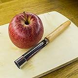 ELBSON Apfelentkerner - Apfelausstecher mit ergonomischem Griff aus Holz und Edelstahlklinge rostfrei - Spülmaschinengeeignet - unverzichtbarer Küchenhelfer für Gemüse und Obst