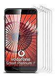 5X Vodafone Smart Platinum 7 | Schutzfolie Matt Bildschirm Schutz [Anti-Reflex] Screen Protector Fingerprint Handy-Folie Matte Bildschirmschutz-Folie für Vodafone Smart Platinum 7 Bildschirmfolie