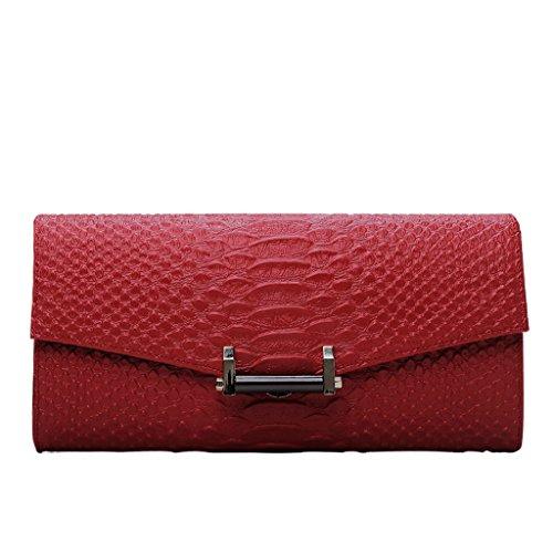 Home Monopoly Sacchetto di mano femminile del sacchetto di mano femminile del sacchetto di mano del banchetto del partito di modo delle signore delle borse ( Colore : Rosa ) Rosso