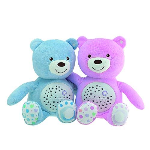 Baby Bär, Nachtlicht Projektor mit Farbwechsel und 30 Min. Musik, Plüsch-Teddybär, Babyspielzeug, Schlafhilfe für Baby - rosa, Projektor, PlüschTeddybär, Nachtlicht, Musik, Farbwechsel, Chicco, Bär, Babyspielzeug, baby einschlafhilfe bett, Baby