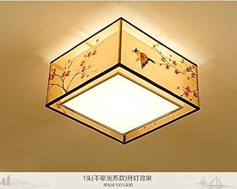 BRIGHTLLT Nouvelle lampe de plafond chinoise Salle de séjour moderne Lumière Romantique Chambre à coucher chaude Lumière Fabricant d'étoffe antique Étude chinoise, 500 * 250 mm