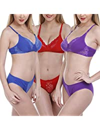 dd35a14062 FIMS® Women's Cotton Bra Panty Set for Women|Lingerie Set|Bra Panty Set