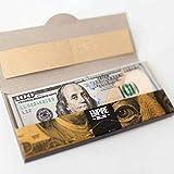 Funthy 100 Dollar Bill Papiere 1 Wallet Kreative Dollar Zigarettenpapiere,Ultra Dünnes Rollenpapier,DIY Kreatives Zigarettenpapier, Empire 100 Rauchen Rolle Premium Zigaretten Rollenpapier 10ST