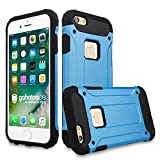 gahatoo iPhone 6/6 s Outdoor Case Hülle Ultra Slim [Hybrid TPU Silikon Hardcase] Handyhülle in Blau [Tactical Military Defender]
