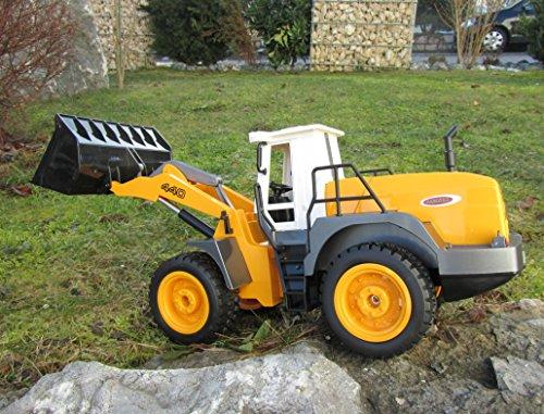 RC Auto kaufen Baufahrzeug Bild 4: Jamara RC Bagger Radlader Inklusive Kieselsteine 440 1:20 Länge 44cm Ferngesteuert*