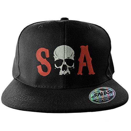 Sons of Anarchy - Baseball Herren Cap Kappe - Skull Logo - Schwarz