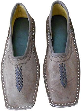 kalra Creations Hombre tradicional indio piel Mocasines Zapatos