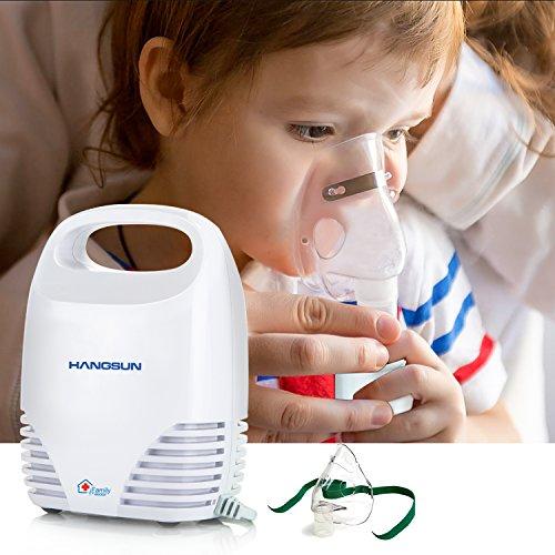 Hangsun CN560 - Inhalador Nebulizador Electrico, Bebe y Adulto, Para Inhalación De Medicamentos Líquidos, Blanco