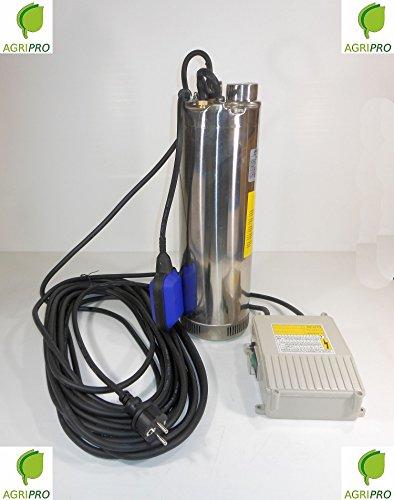Elektropumpe Pumpe Tauchpumpe HP 1Edelstahl mit Schwimmer für Schale oder Brunnen Serie sqmax 40g (1 Hp Tauchpumpe)