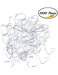 Tubala 1000 Pieces Rubber Bands Clear Elastic Hair Bands Polyband Elastics For Hair Ponytail