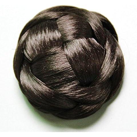 Testa a sfera di moda retrò parrucca, sintetico Scrunchie capelli Bun coprire femminile in Hair (Halloween Scrunchie)