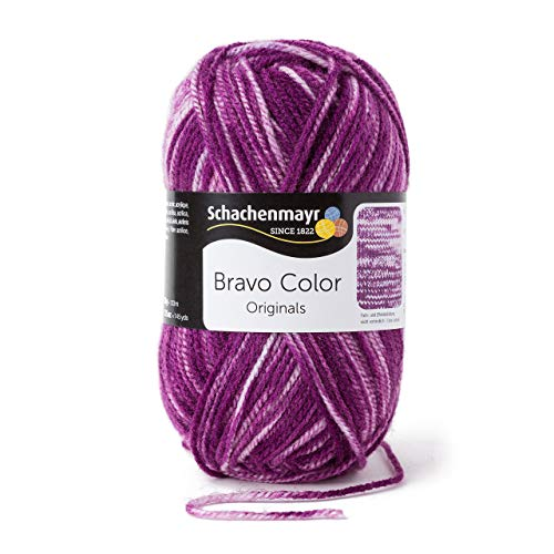 Schachenmayr Bravo Color 9801421-02112 violett denim Handstrickgarn, Häkelgarn -