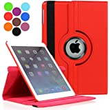 ProElite 360 Degree Rotatable Smart Flip Case cover for Apple iPad Mini 4 [Wake & Sleep Function] (Red)