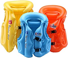 JERN Kids Colorful Inflatable Life Vest and Jacket