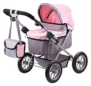 Bayer Design- Cochecito de muñeca, Trendy, Color Gris, Rosa (13008AA)