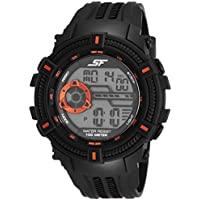Sonata Fibre (SF) Digital Grey Dial Men's Watch-77080PP02