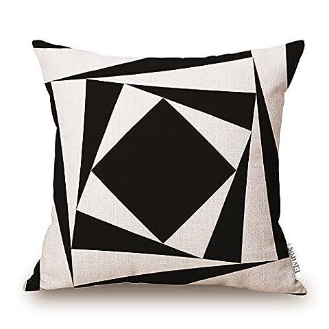 Housse Fauteuil Prune - Elviros Coton Lin Blend Géométrique Décoratif Housse