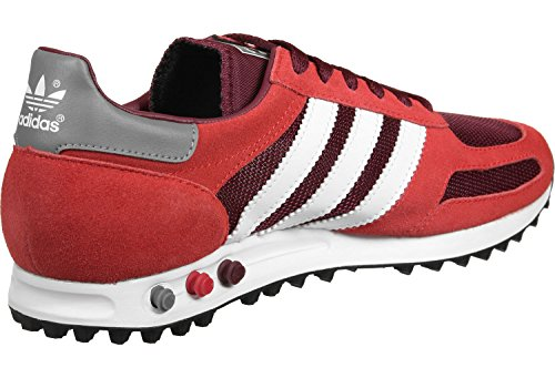 adidas la Trainer Og, Baskets Basses Homme rouge bordeaux blanc