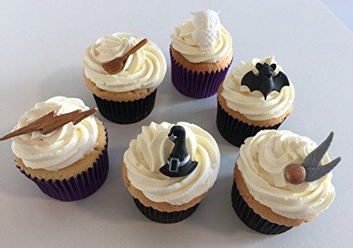6 Handgemachte Kuchendekorationen aus Zucker: Harry Potter-Set / 6 Sugar Harry Potter Themed Cake Toppers