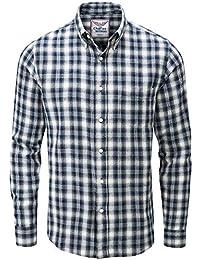 e5576c413d Charles Wilson Camisa Franela de Cuadros Manga Larga para Hombre