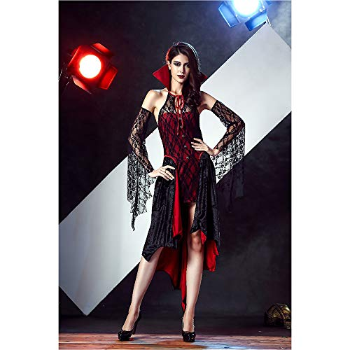 Halloween Witch Uniform Witch, The Vampire Count riproduce Il Costume, The Carnival Party Dark Queen Costume,M