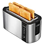 Holife 4 Slice Toaster Stainless Steel Extra Wide Long Slot Toasters with 6