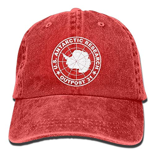 MACITA Lightly Retro Outpost 31 Antarctica Research Washed Dyed Plain Cowboy Baseball Caps Quick Dry Hats Womens Plain Front Chino