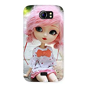 Impressive Pink Doll Back Case Cover for Micromax Canvas 2 A110