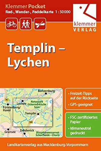 Klemmer Pocket Rad-, Wander- und Paddelkarte Templin – Lychen: Maßstab 1:50.000, GPS geeignet, Freizeit-Tipps auf der Rückseite