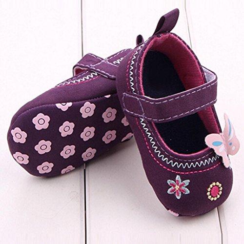 Xinantime , Chaussures premiers pas pour bébé (fille) bleu bleu 6~12 Month violet