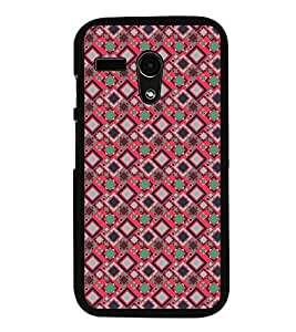 Fuson Premium 2D Back Case Cover pattern checks With Multi Background Degined For Motoroal Moto G Turbo Edition