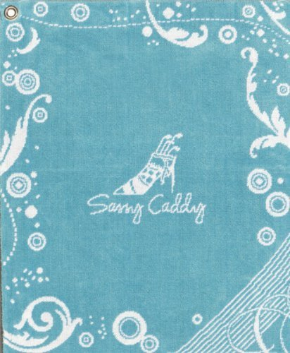 sassy-caddy-womens-golf-towel-turquoise-white-by-sassy-caddy-inc