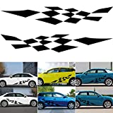 RENNICOCO Universel De Voiture Racing Body Side Stripe Jupe Toit Decal Sticker Autocollant