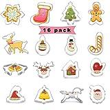 Sunshine smile Plätzchenausstecher,Fondant Ausstechformen für Weihnachten Kekse Backen Kinder,plätzchen ausstecher Set,keksausstecher Edelstahl Weihnachten (16 Pack)