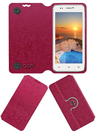 Acm Designer Rotating Flip Flap Case for Iball Andi 5k Sparkle Mobile Cover Pink  available at amazon for Rs.399