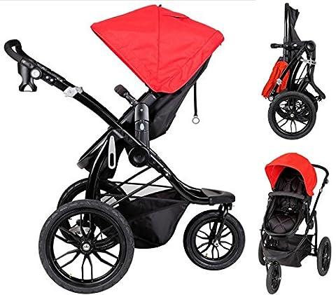 PAPILIOSHOP MANTA Pushchair buggy stroller jogger for jogging running travel baby kid kid's single buggies strollers sport