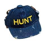 Generic Baumwolle Hut , Einstellbare Haustier Hunde Katze Sport Cap Cowboy Design Blau - S