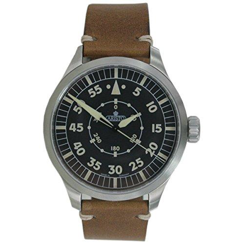 Aristo Reloj de hombre reloj de pulsera Automatic 7h99Vintage 47Navegador piel
