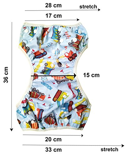 Swim-Nappy-Set-Pack-of-2-Reusable-Adjustable-Swimming-Diapers-for-0-2yr-Baby
