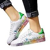 Mymyguoe Zapatos Blancos Calzado para Hombres y Mujeres Amantes Zapatos Zapatillas de Senderismo Deportivas Aire Libre y Deportes Zapatos de Running Zapatos Correr Sneakers