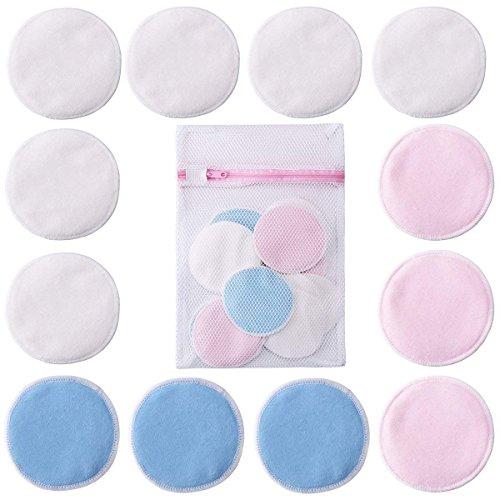 GARYOB 12 Stück Bambus Abschminkpads waschbare Wiederverwendbar Make Up Cleansingpads mit Wäschebeutel