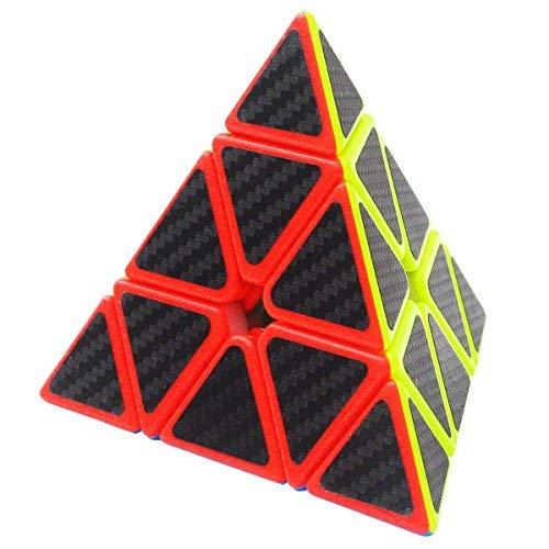 Zauberwürfel Pyramid Pyraminx Coolzon® Speed Cube Würfel Carbon Faser Aufkleber Neue Geschwindigkeits Super Schnell und Glatt