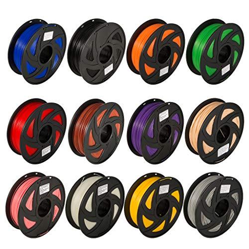 olle von 1.75mm Drucker-Faden ABS-Kunststoff 3D Drucker Filament für 3D-Drucker und 3D-Stifte, wie für MakerBot, Anet 5 M lang Jede ()