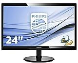 "Philips Monitor 246V5LDSB Gaming Monitor 24"" LED Full HD, 1920 x 1080, 250 cd/m², 1 ms, HDMI, DVI, VGA, Attacco VESA, Nero"
