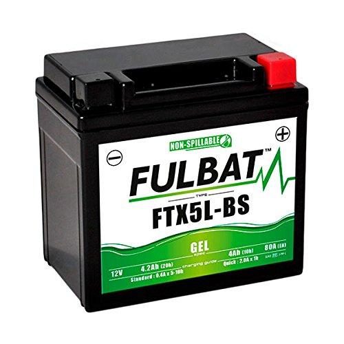 Fulbat - Batería moto Gel YT5L-BS / YTX5L-BS 12V 4Ah