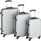 Packenger Reisekoffer Steel 3er-Set M, L und XL in Silber