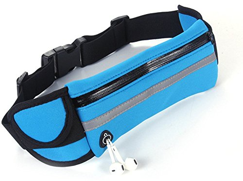 Ynxing in cintura marsupio borsa con chiave e cellulari per uomini e donne corsa arrampicata mountain work out Sweatproof e traspirante, Light Blue Light Blue
