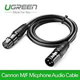 #10: UGREEN Balanced XLR 3 Pin Cannon Male Female Extension Cable Microphone Mixer - 2m