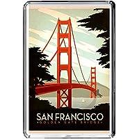 B465 SAN FRANCISCO USA FRIDGE MAGNET USA VINTAGE TRAVEL PHOTO CALAMITA DA FRIGO