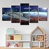 BVC Stampa su Tela Guerre Stellari Quadri d'Arte 5 Pezzi Immagini Stampe Poster Art per la Decorazione della Parete del Soggiorno,B,20x30x2+20x40x2+20x50x1